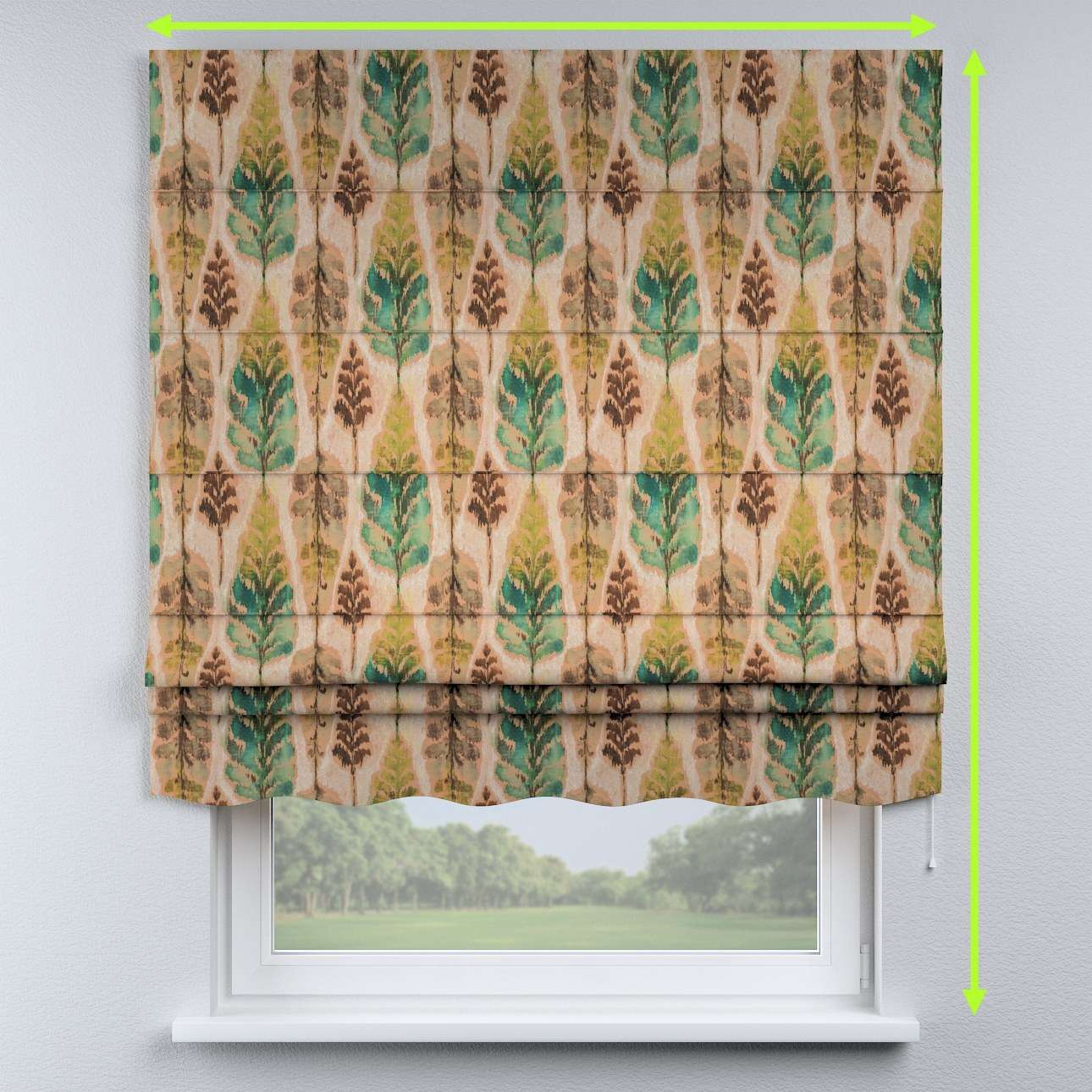 Florence roman blind  in collection Urban Jungle, fabric: 141-60