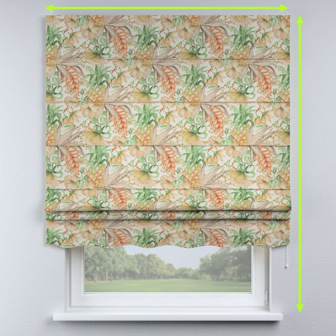 Florence roman blind  in collection Urban Jungle, fabric: 141-61