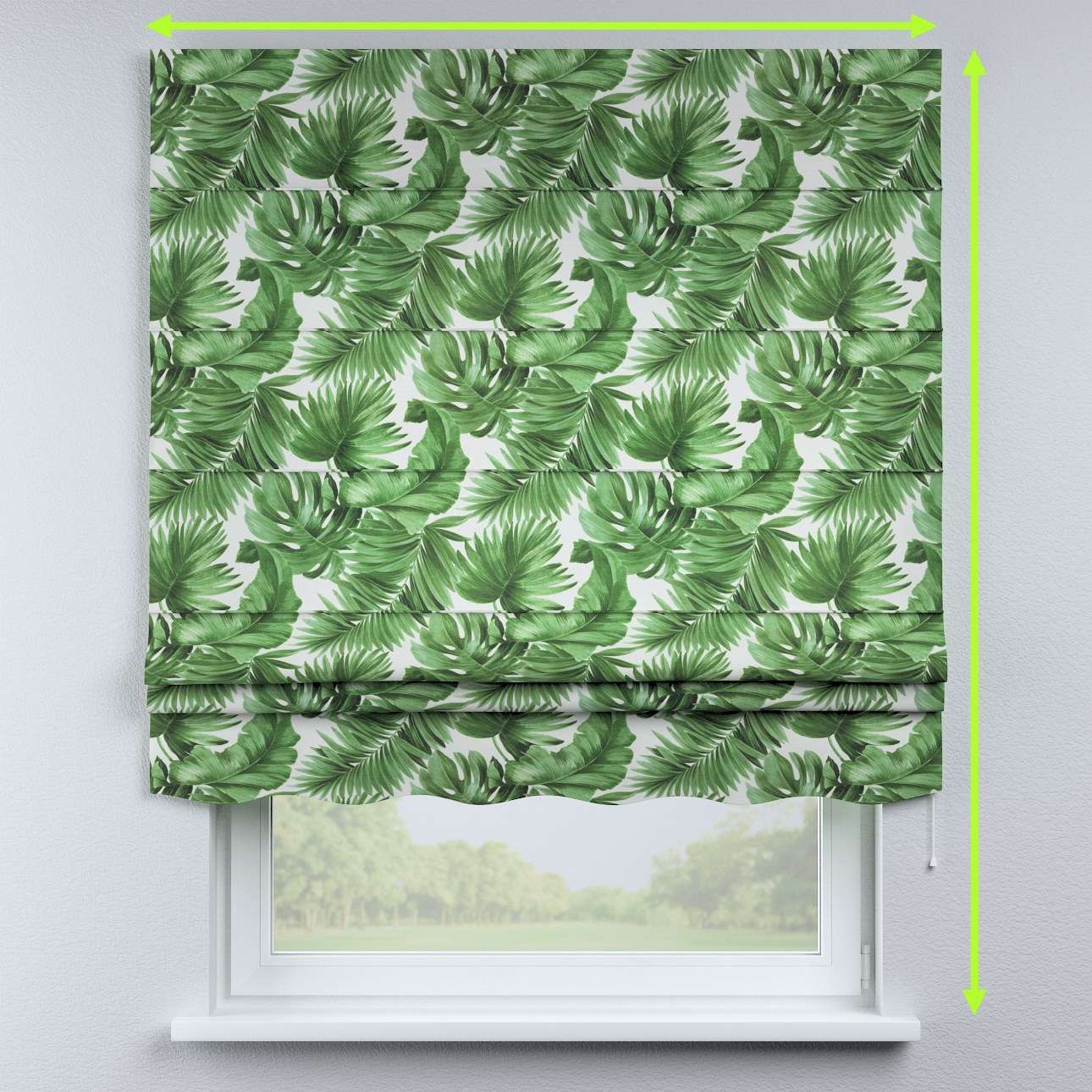 Florence roman blind  in collection Urban Jungle, fabric: 141-71