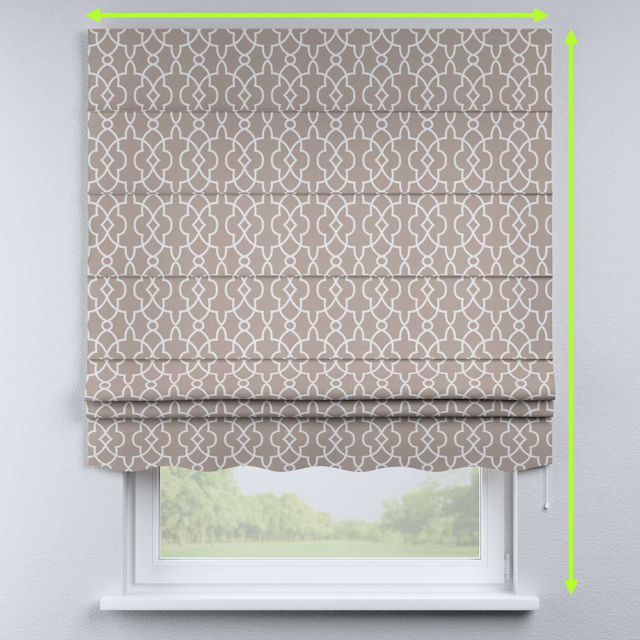 Florence roman blind  in collection Gardenia, fabric: 142-20