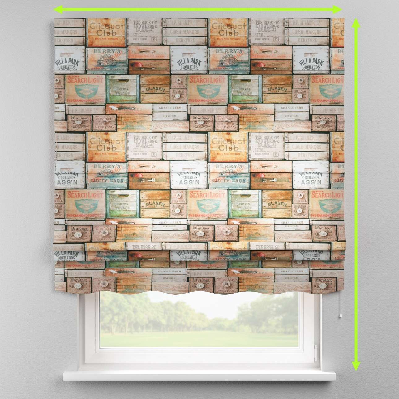 Florence roman blind  in collection Norge, fabric: 150-10