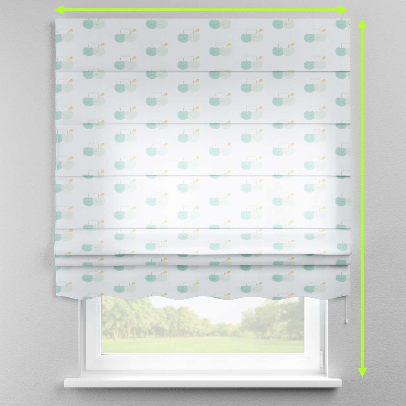 Florence roman blind  in collection Apanona, fabric: 151-02