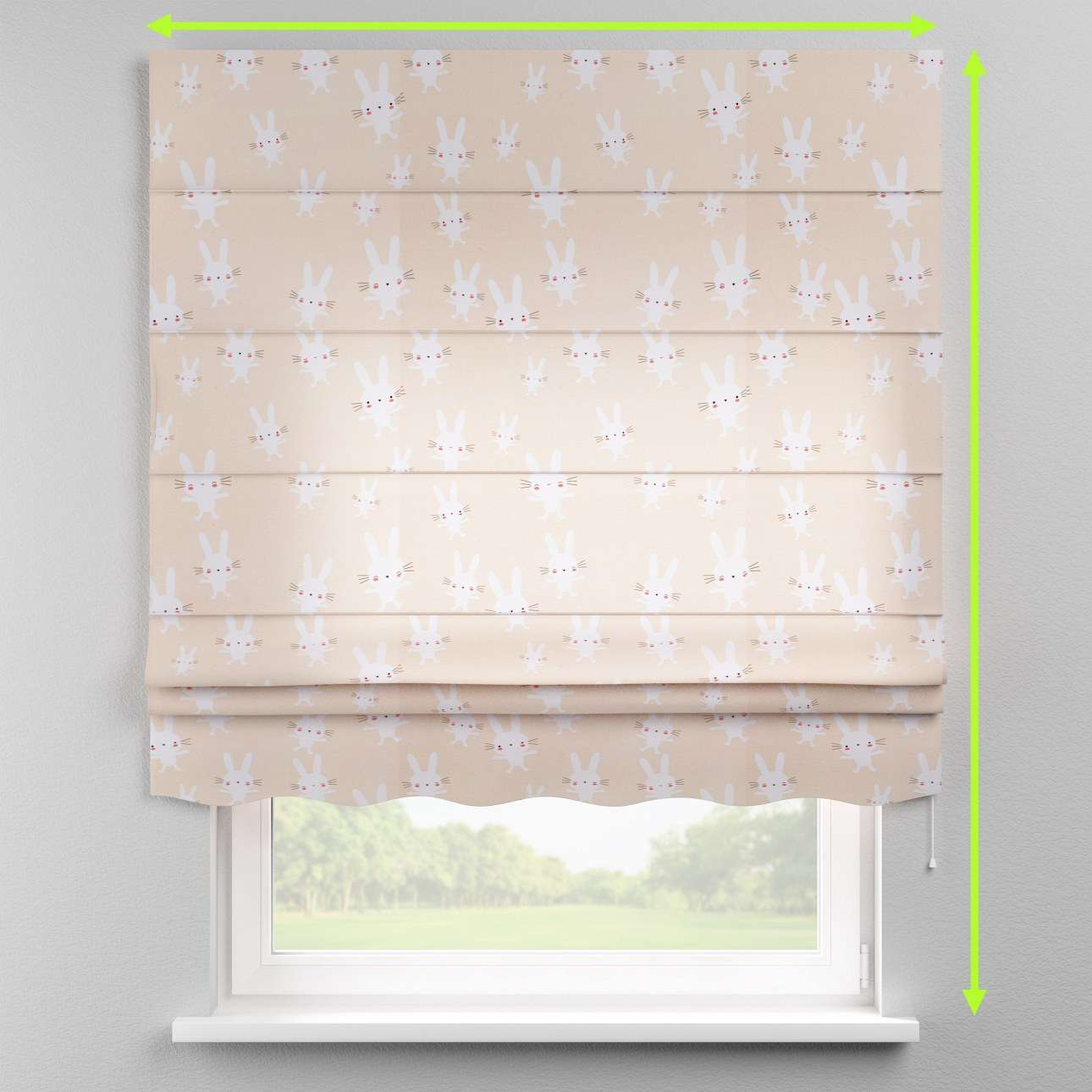 Florence roman blind  in collection Apanona, fabric: 151-00