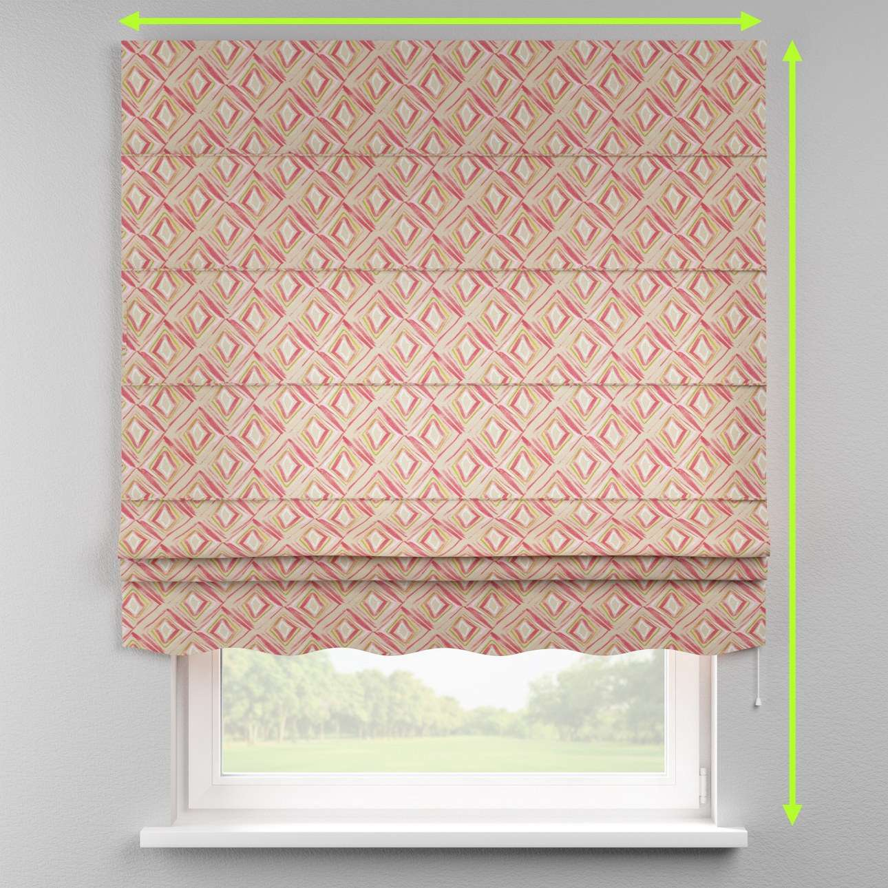 Florence roman blind  in collection Londres, fabric: 140-45