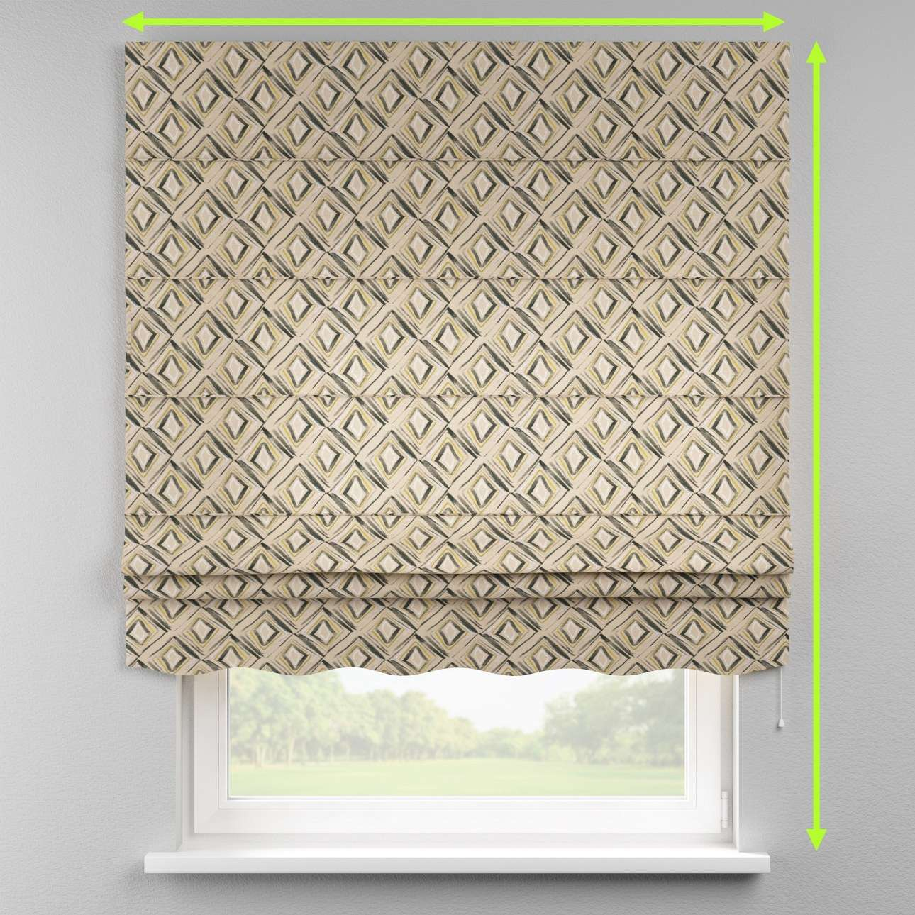 Florence roman blind  in collection Londres, fabric: 140-46
