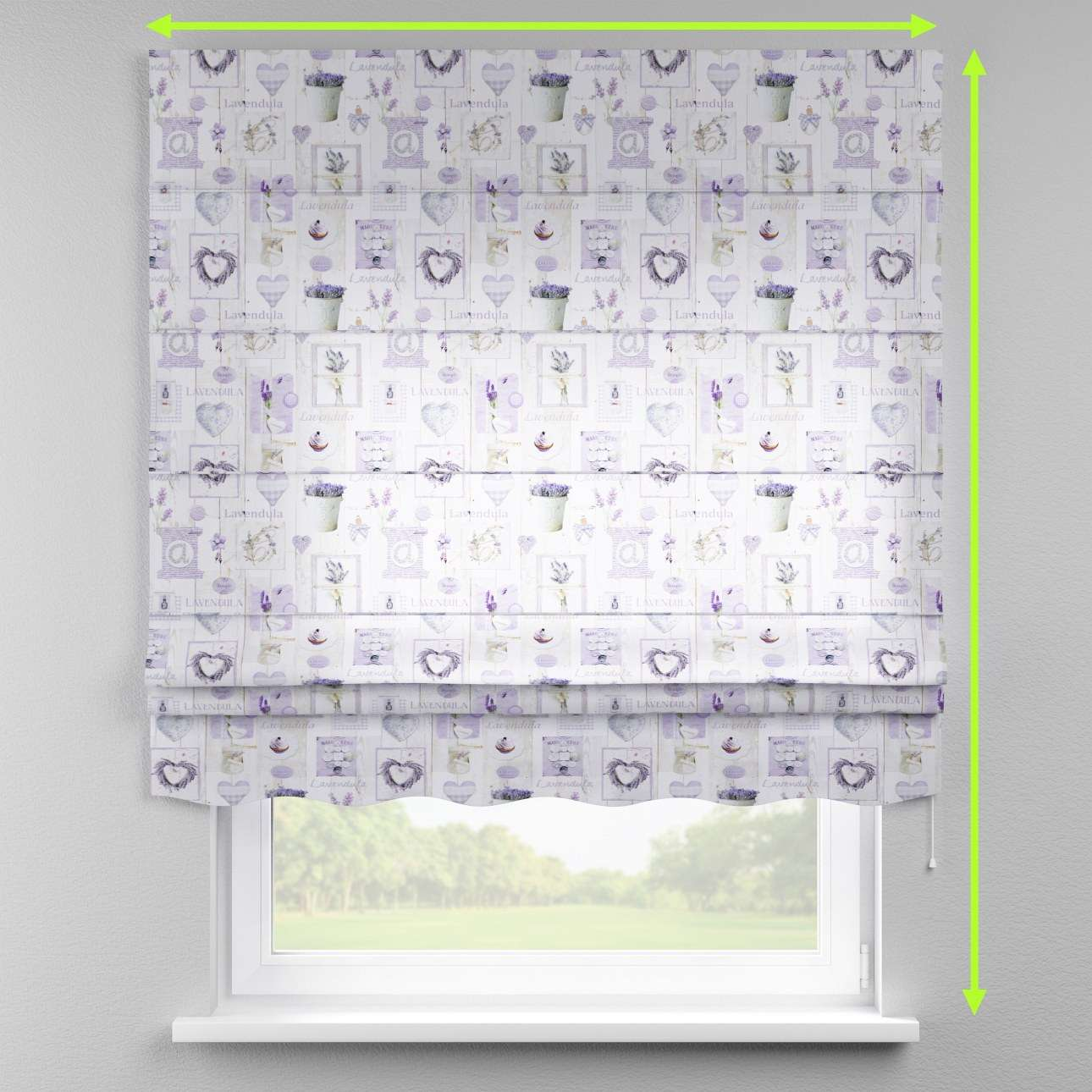 Florence roman blind  in collection Ashley, fabric: 140-18