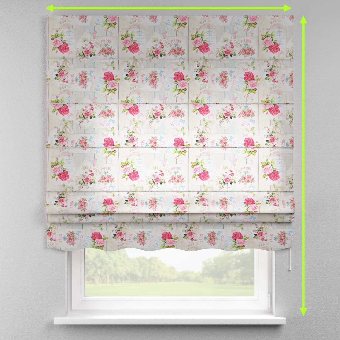 Florence roman blind  in collection Ashley, fabric: 140-19