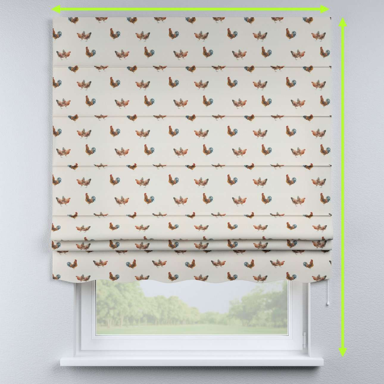 Florence roman blind  in collection Flowers, fabric: 141-80