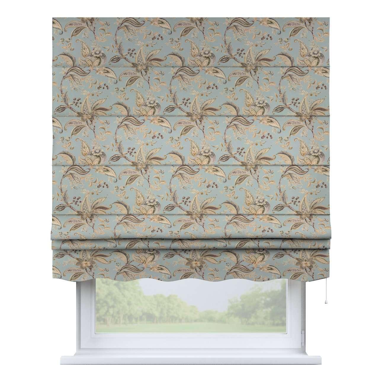 Foldegardin Firenze<br/>Med buet flæse fra kollektionen Gardenia, Stof: 142-18
