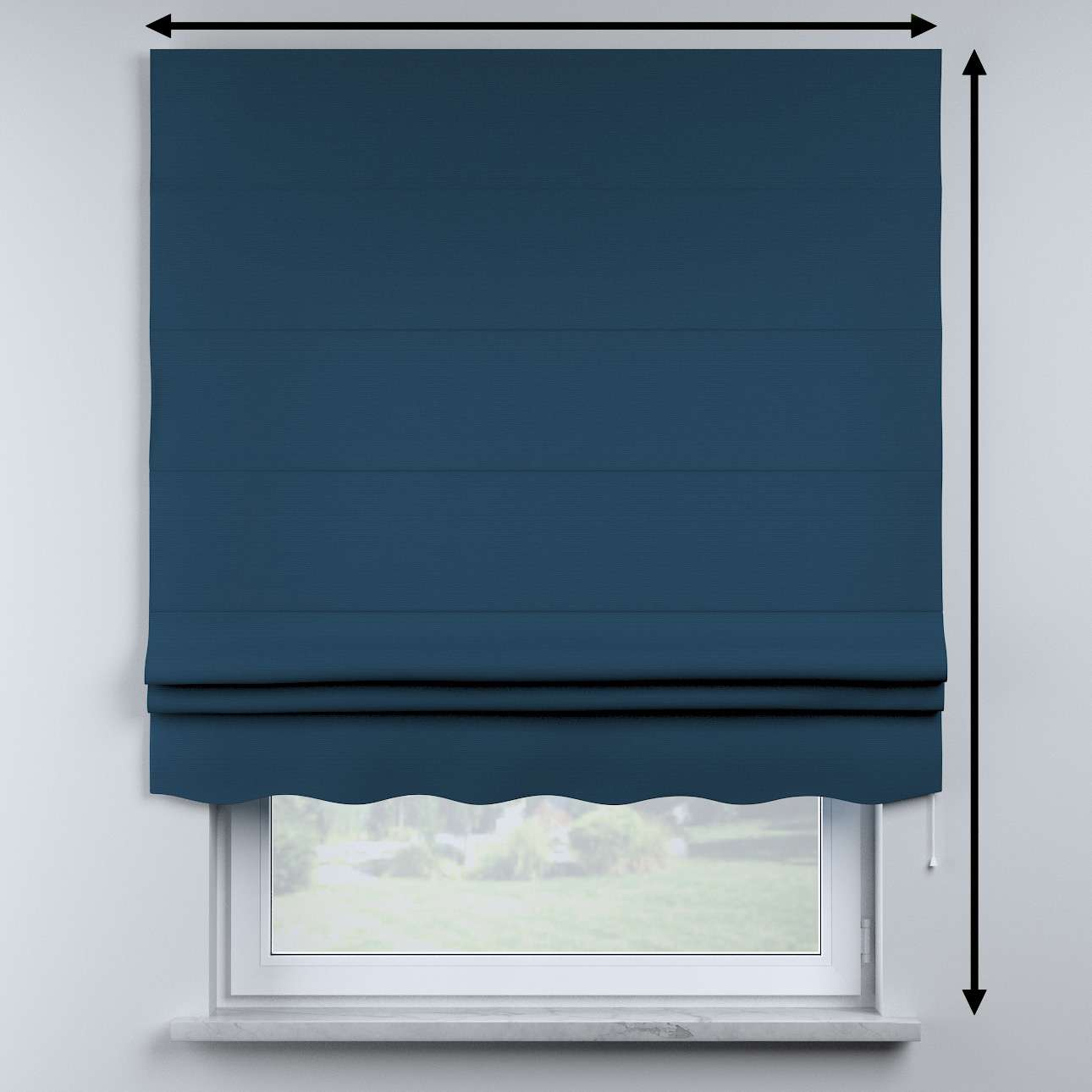 Mela roman blind in collection Cotton Story, fabric: 702-30