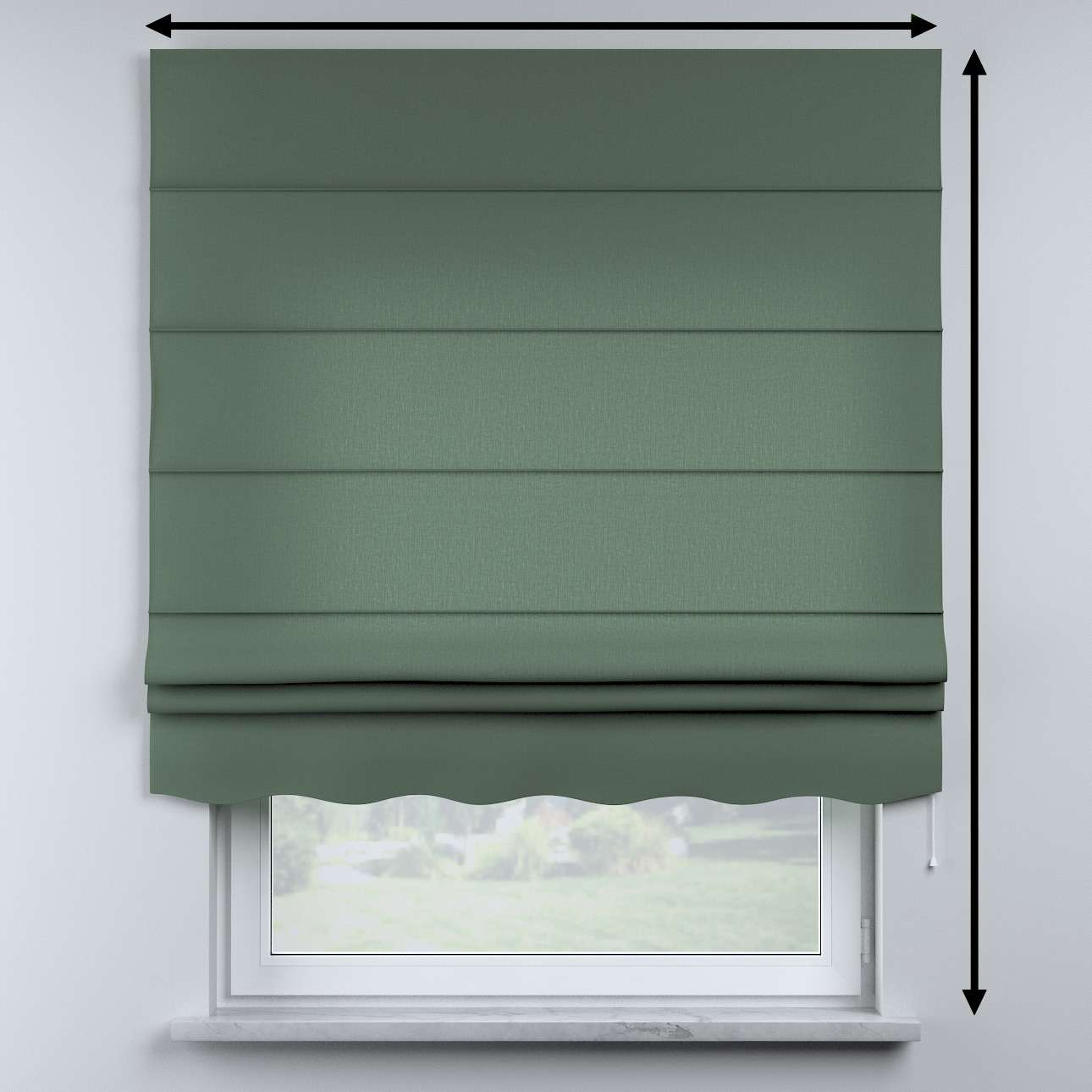 Mela roman blind in collection Nature, fabric: 159-08