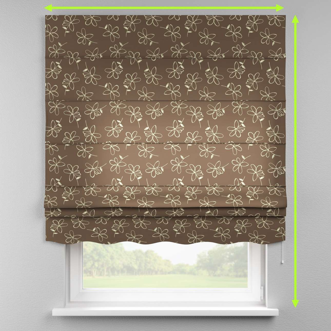 Florence roman blind  in collection Flowers, fabric: 311-03