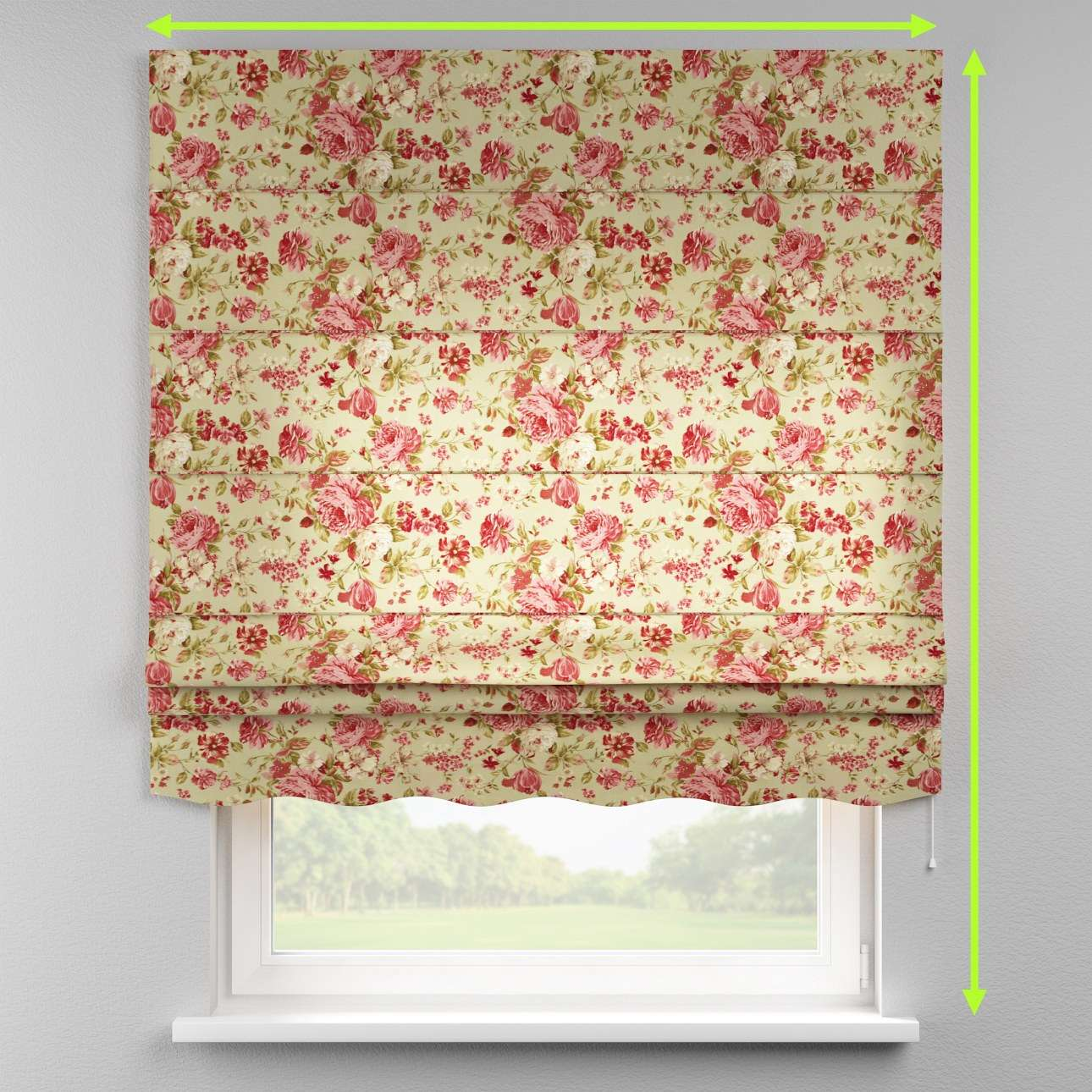 Florence roman blind  in collection Flowers, fabric: 311-06