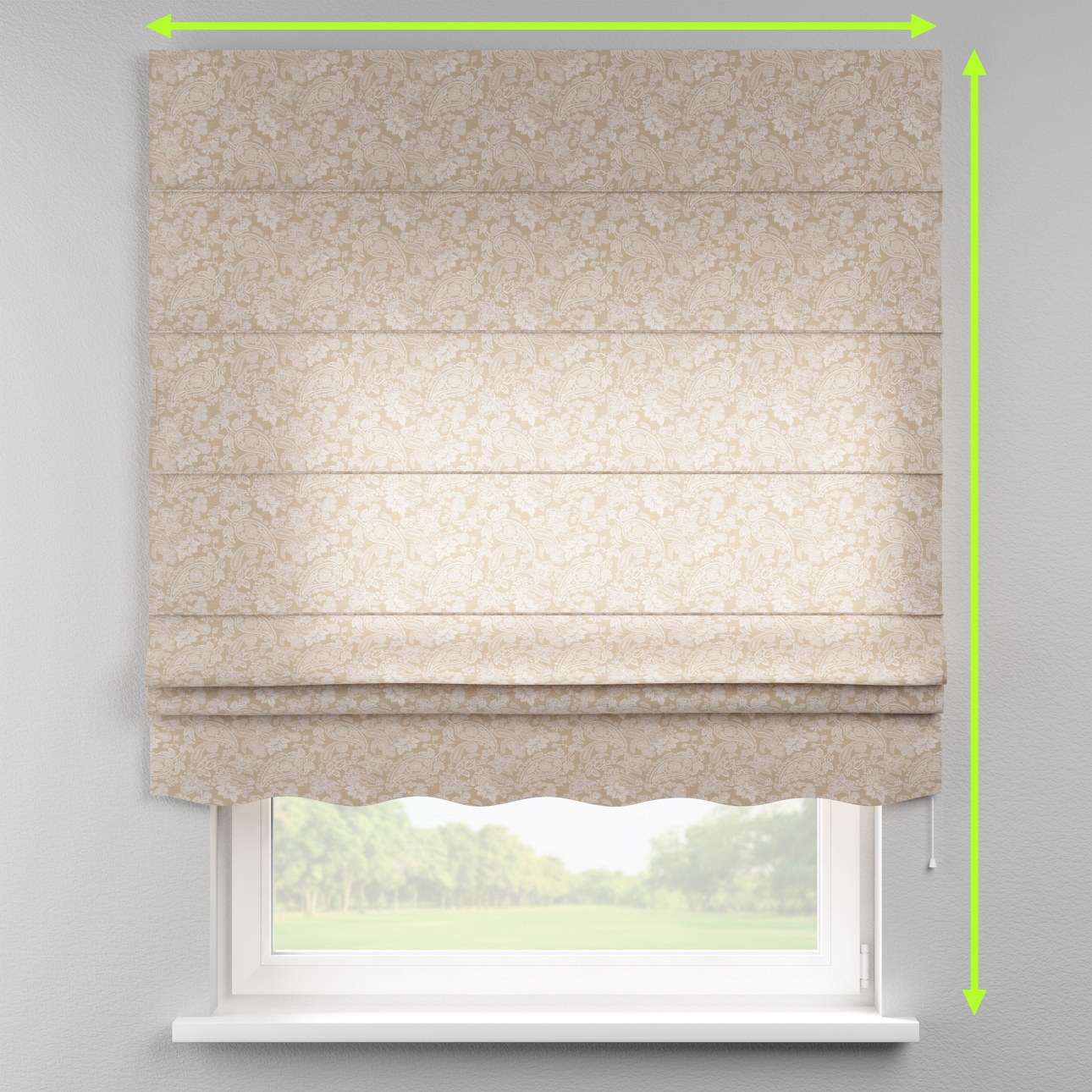 Florence roman blind  in collection Flowers, fabric: 311-08