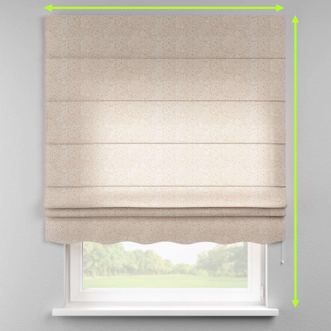 Florence roman blind  in collection Flowers, fabric: 311-09
