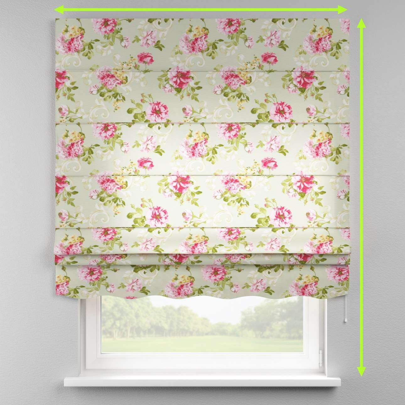Florence roman blind  in collection Flowers, fabric: 311-10