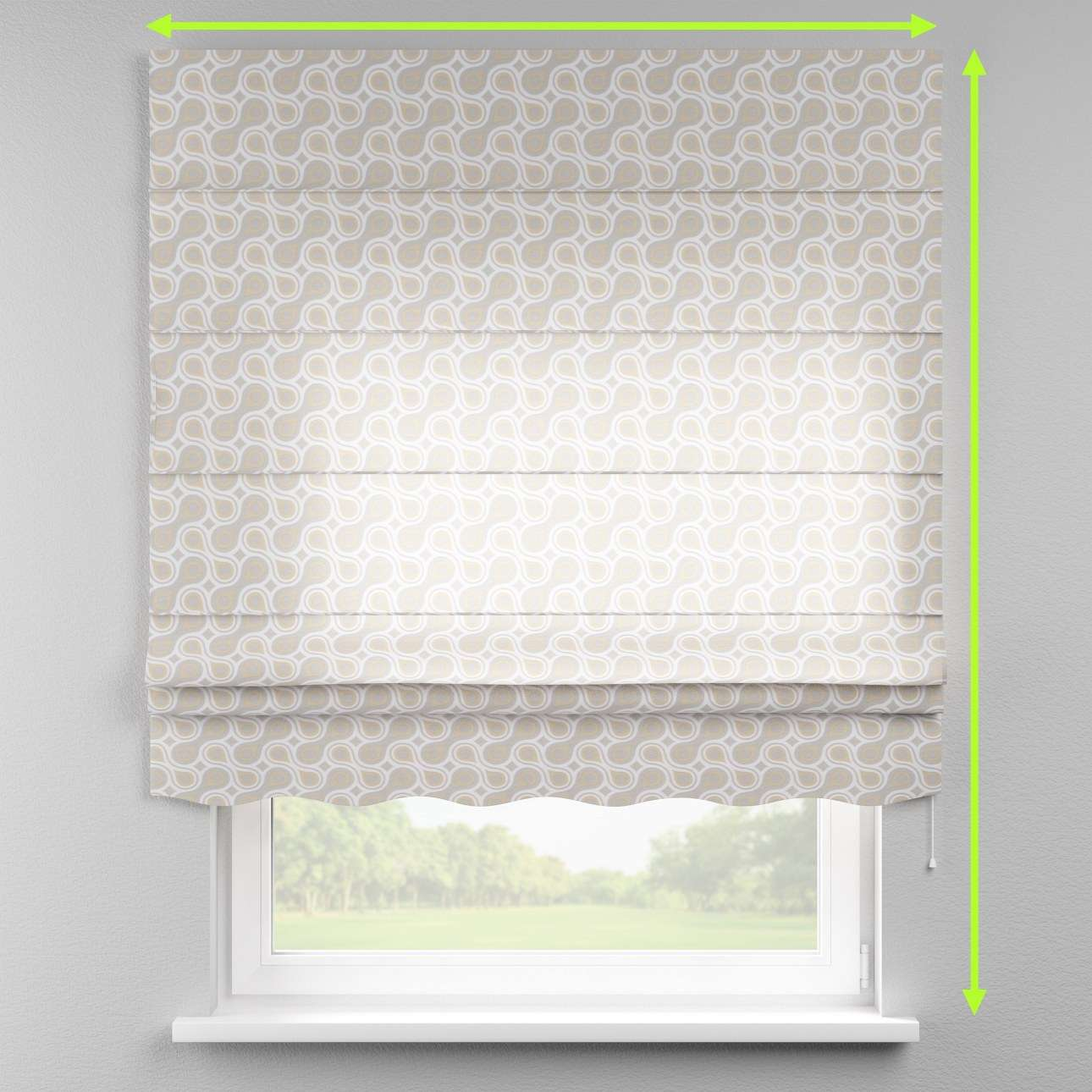 Florence roman blind  in collection Flowers, fabric: 311-11