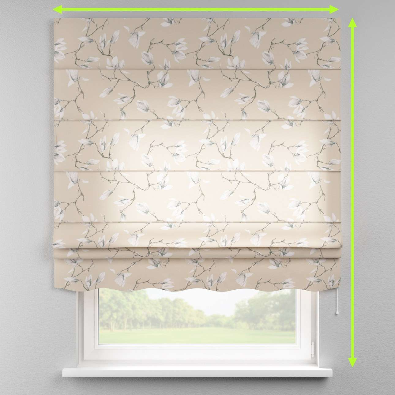 Florence roman blind  in collection Flowers, fabric: 311-12