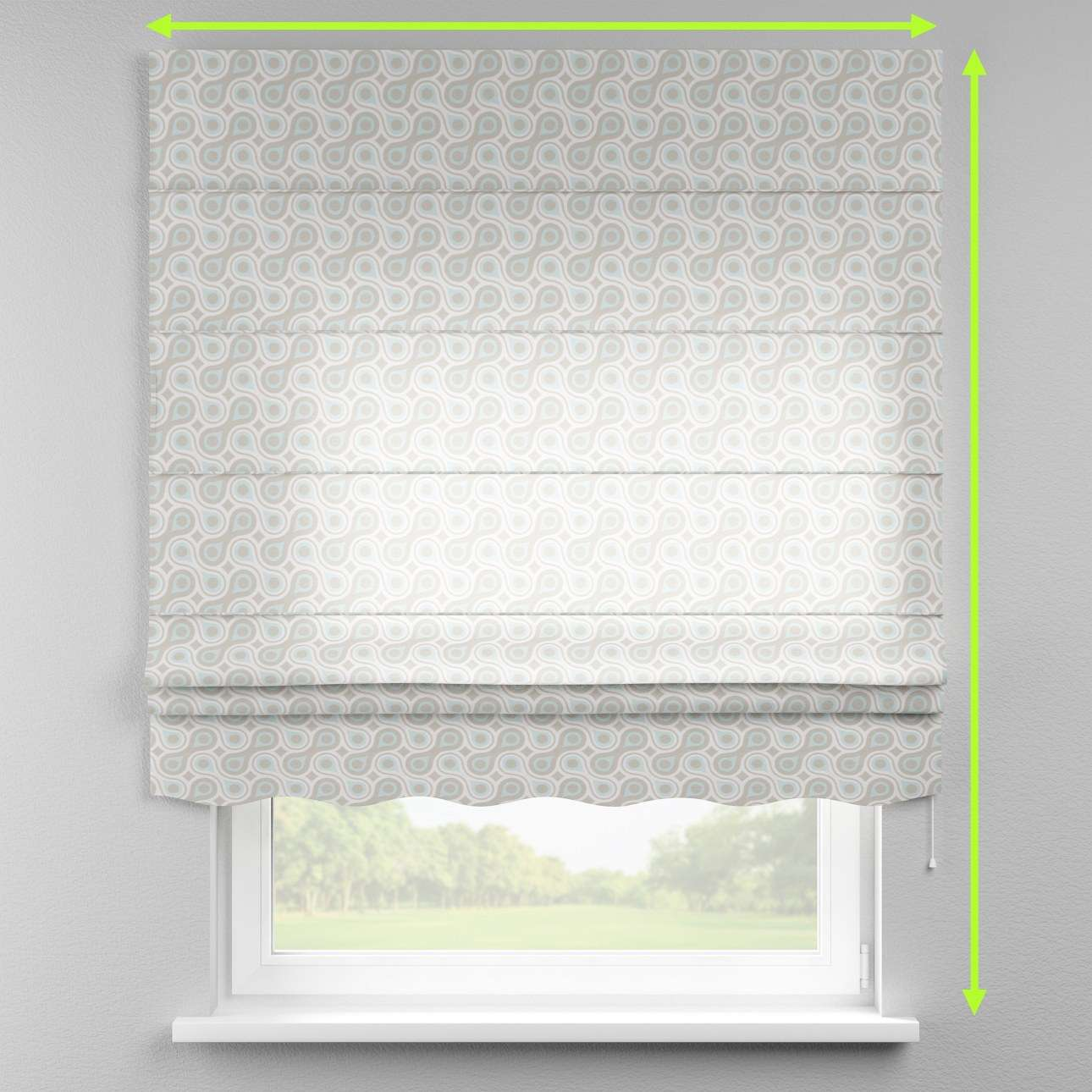Florence roman blind  in collection Flowers, fabric: 311-13