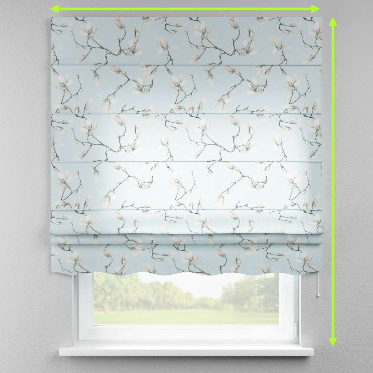 Florence roman blind  in collection Flowers, fabric: 311-14