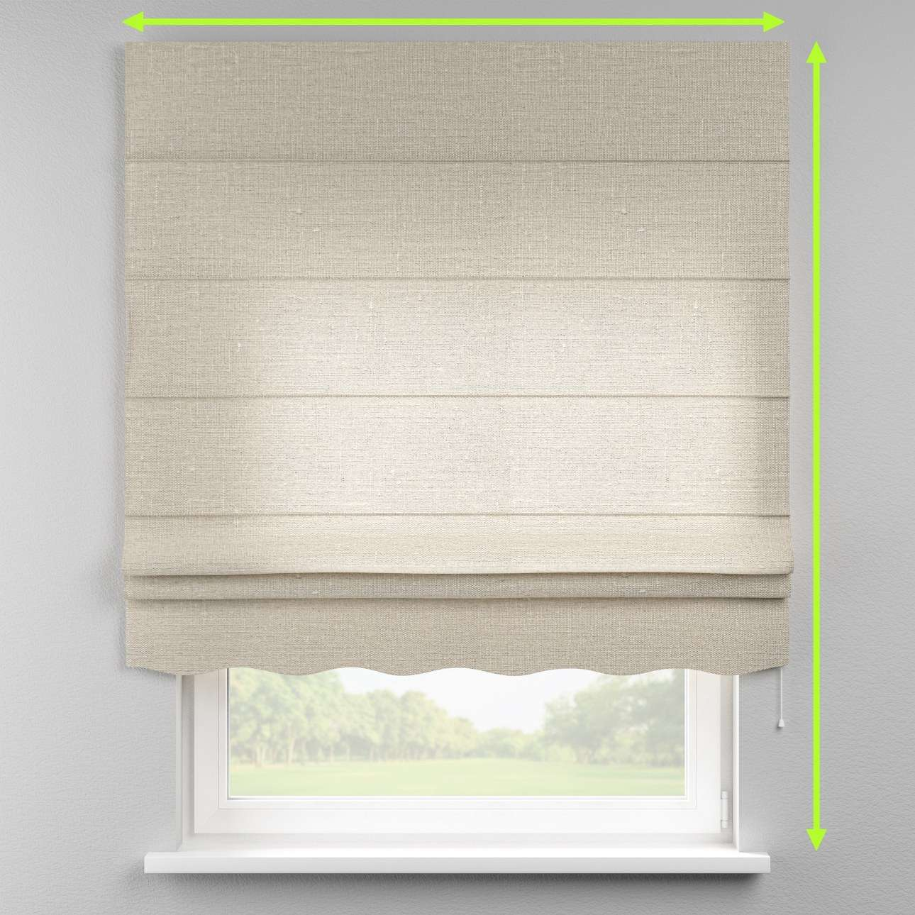 Florence roman blind  in collection Linen , fabric: 392-05