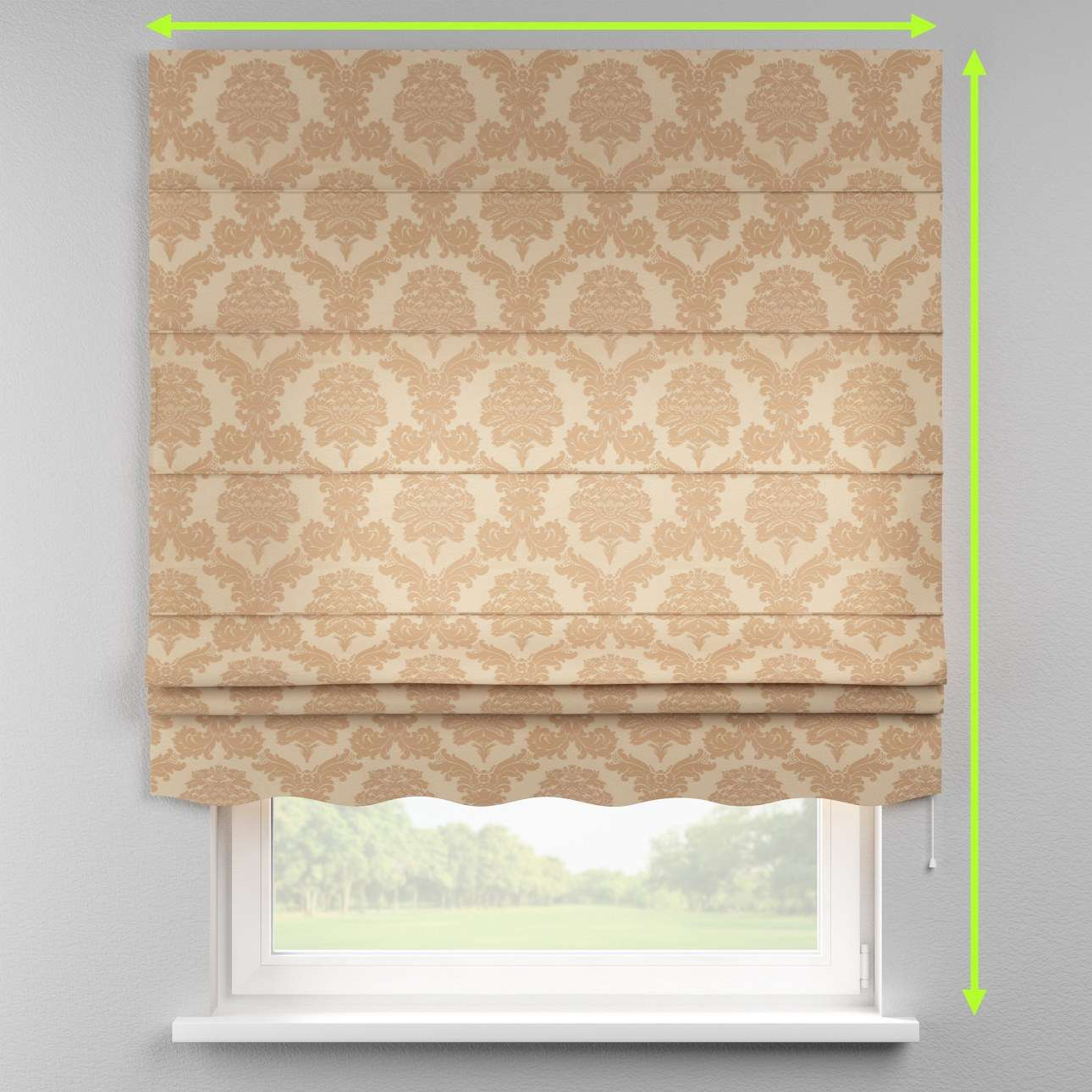 Florence roman blind  in collection Damasco, fabric: 613-04