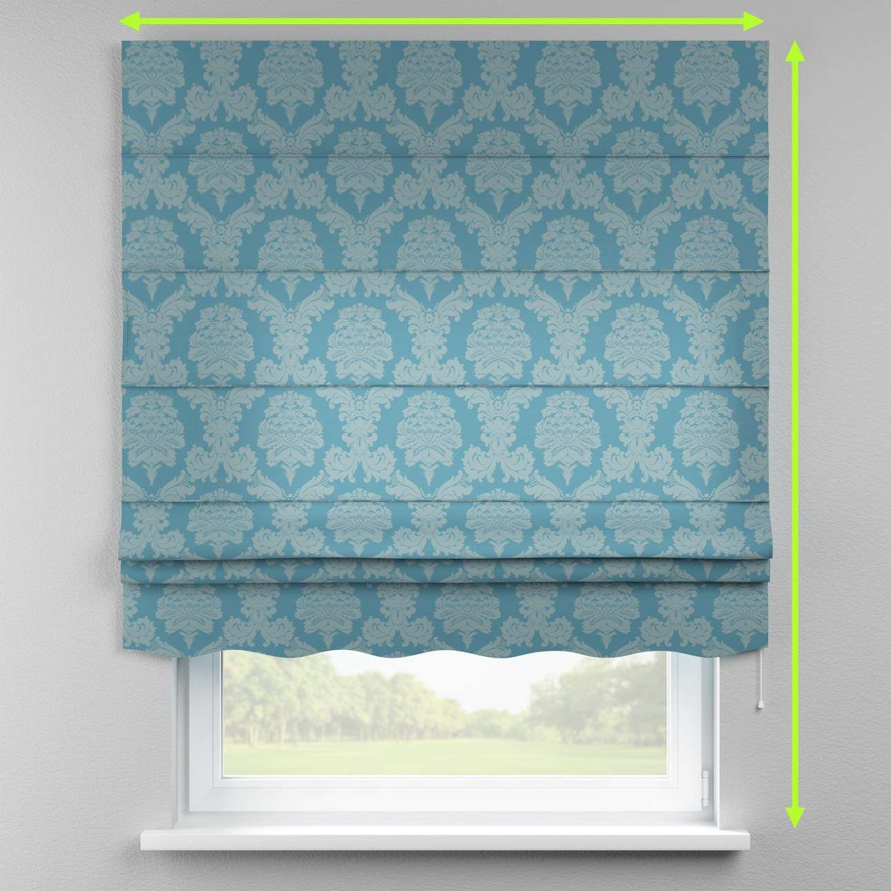 Florence roman blind  in collection Damasco, fabric: 613-67