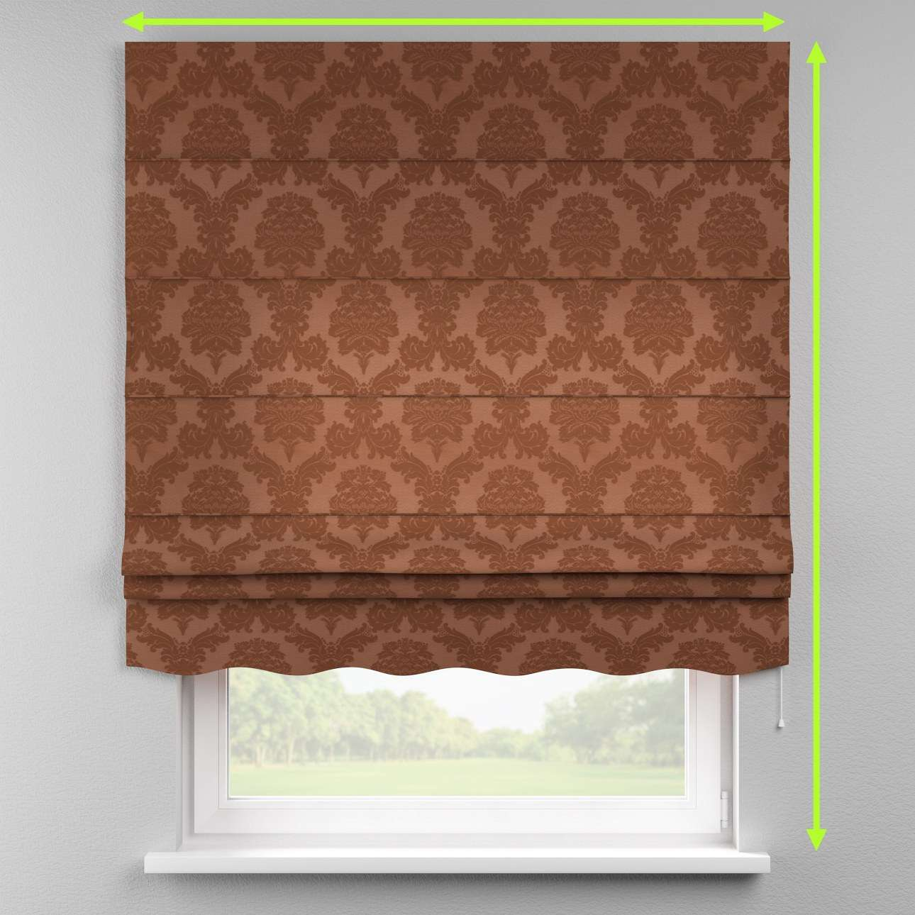 Florence roman blind  in collection Damasco, fabric: 613-88