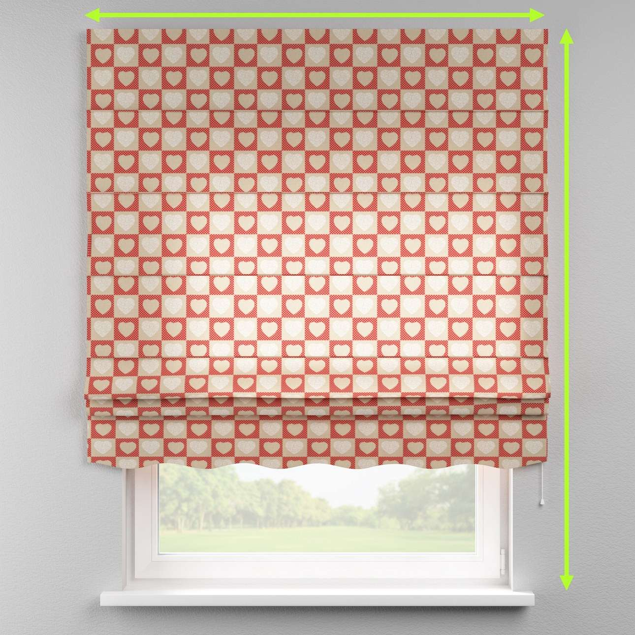 Florence roman blind  in collection Freestyle, fabric: 629-16