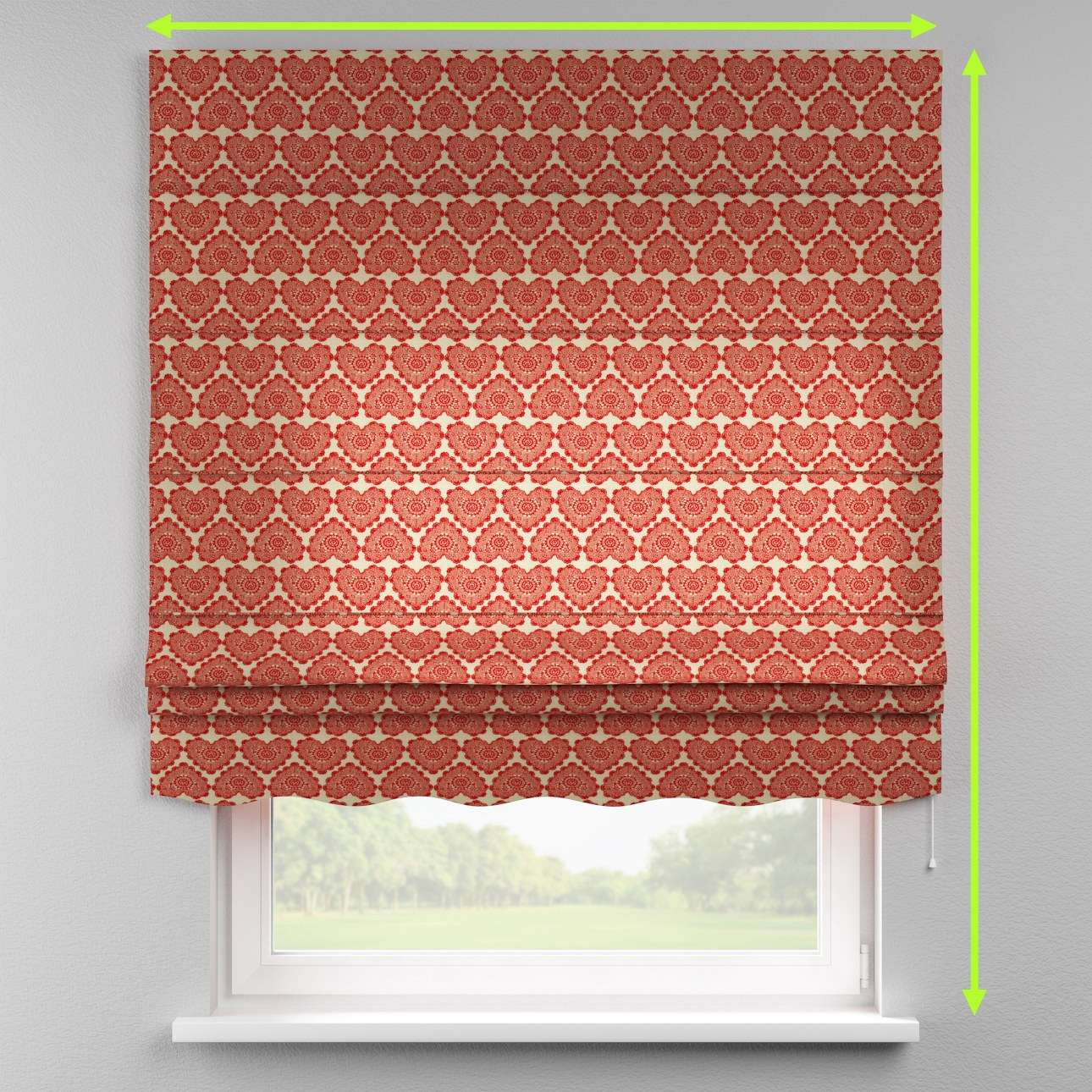 Florence roman blind  in collection Christmas , fabric: 629-17