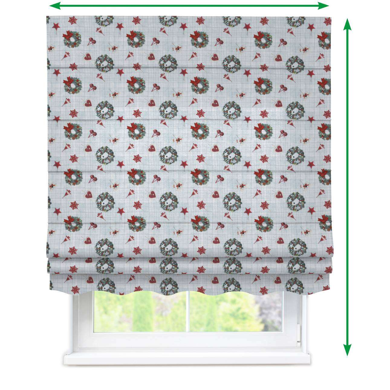 Florence roman blind  in collection Christmas , fabric: 629-26