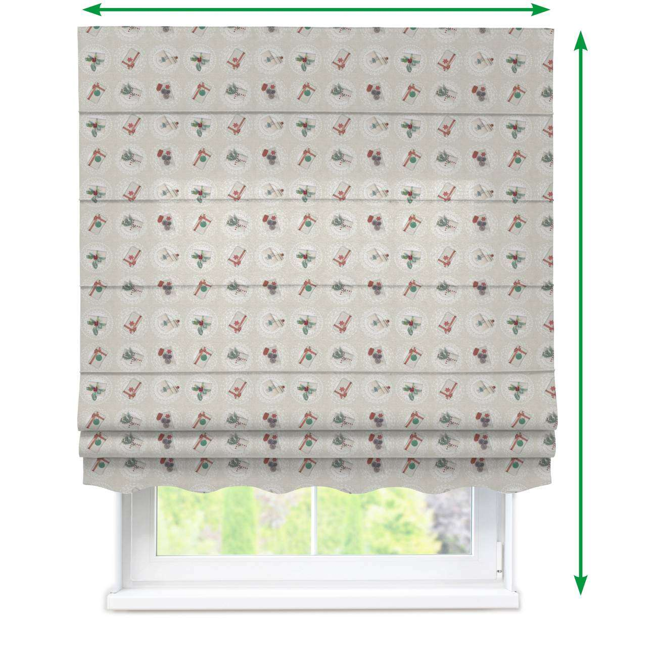 Florence roman blind  in collection Christmas , fabric: 629-30