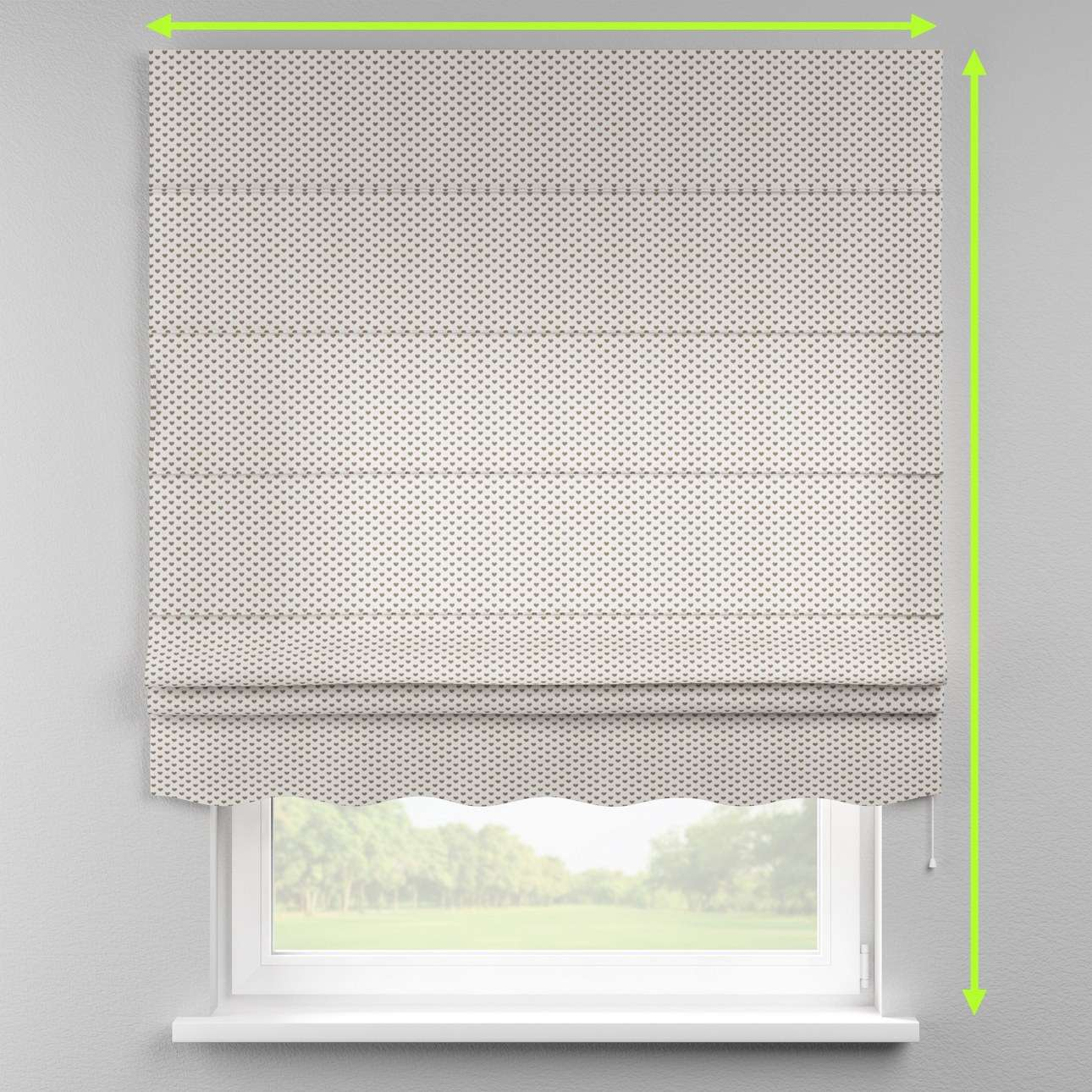 Florence roman blind  in collection Nordic, fabric: 630-08