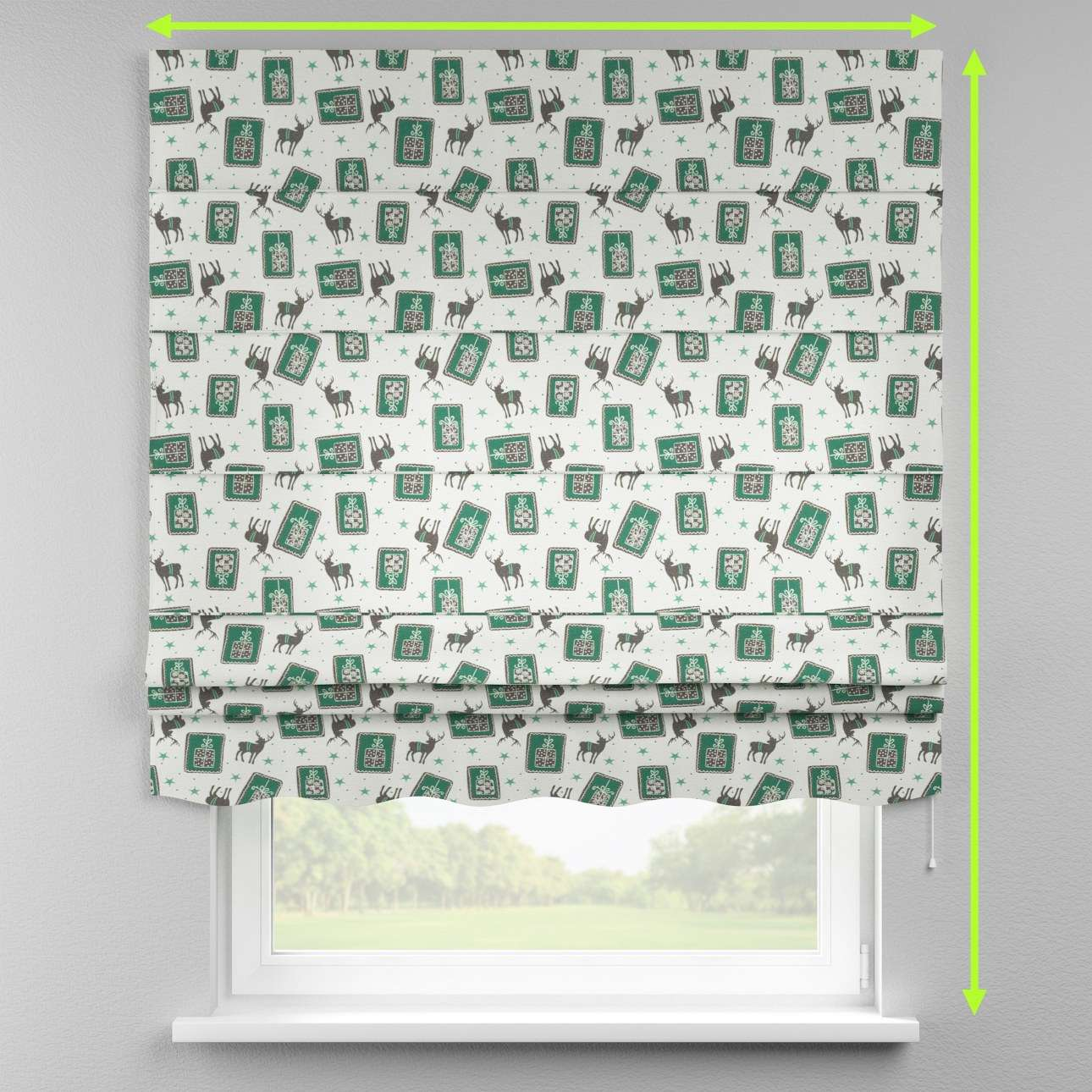 Florence roman blind  in collection Nordic, fabric: 630-13