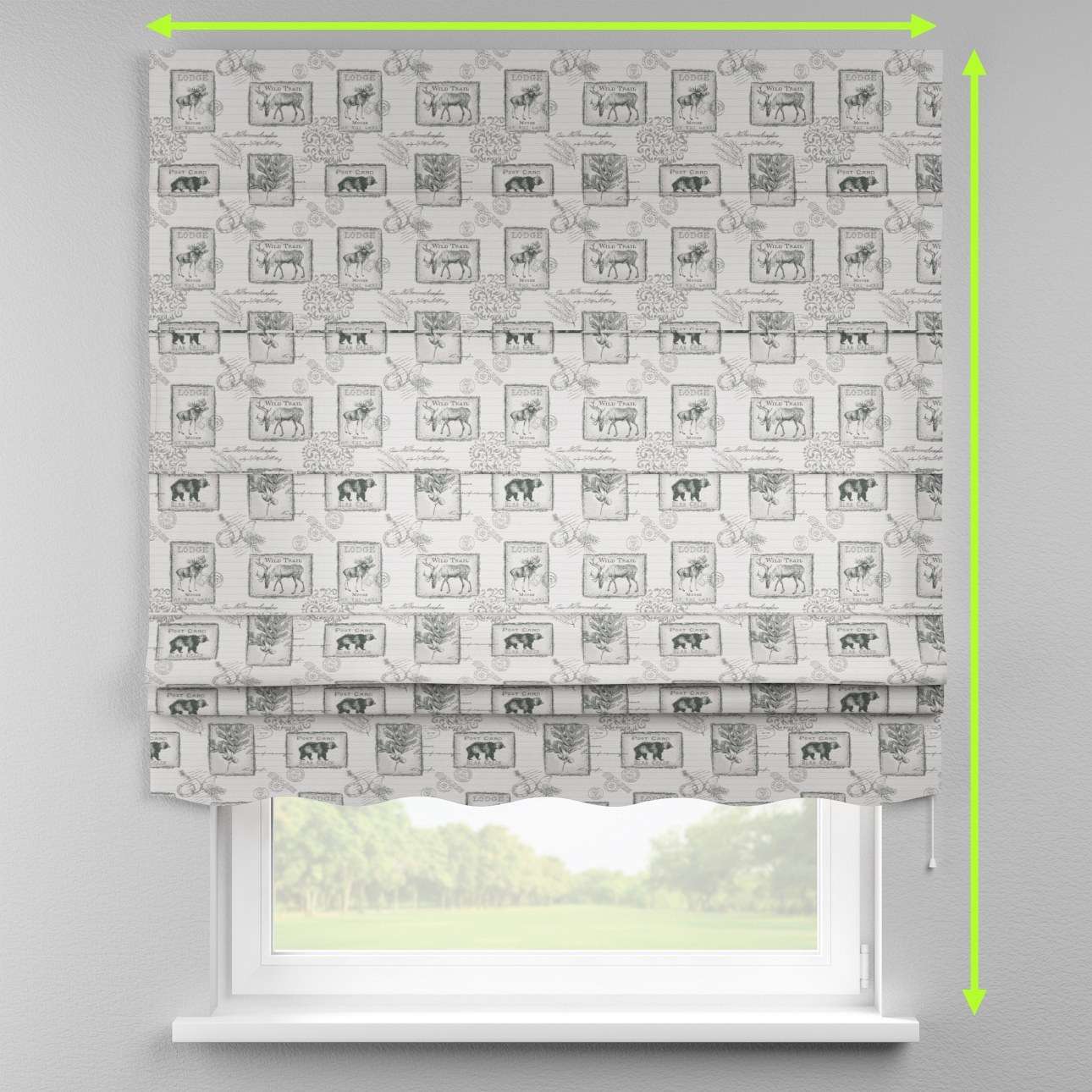 Florence roman blind  in collection Christmas , fabric: 630-18