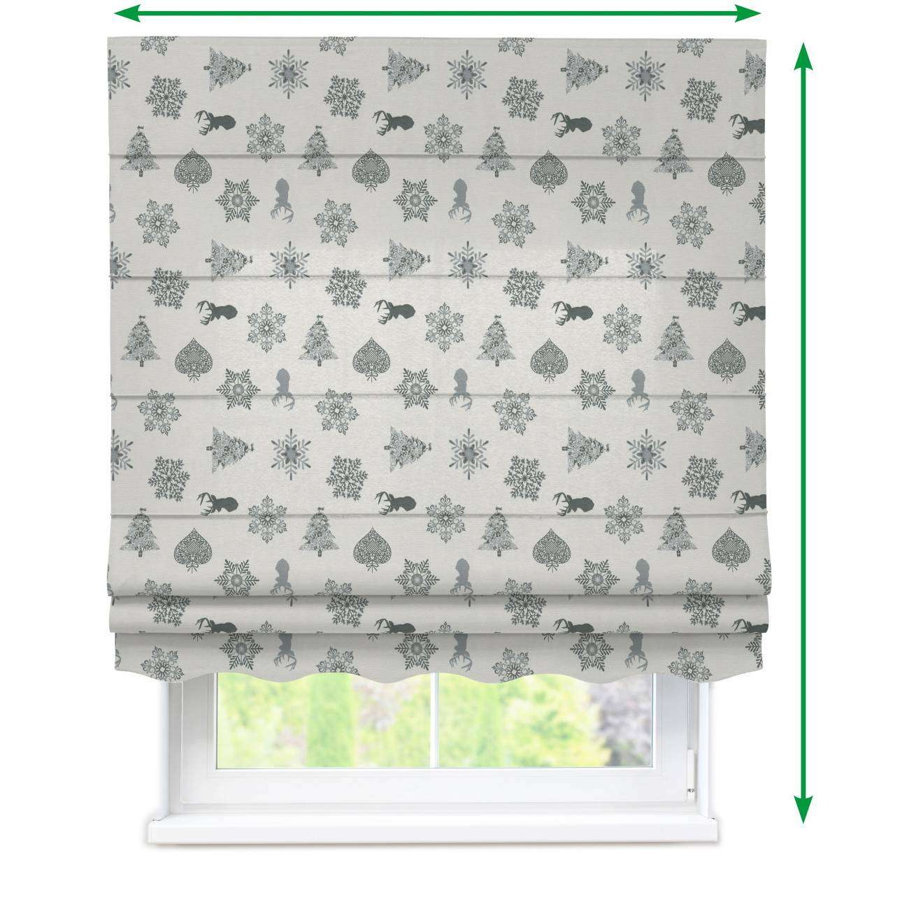 Florence roman blind  in collection Christmas , fabric: 630-24