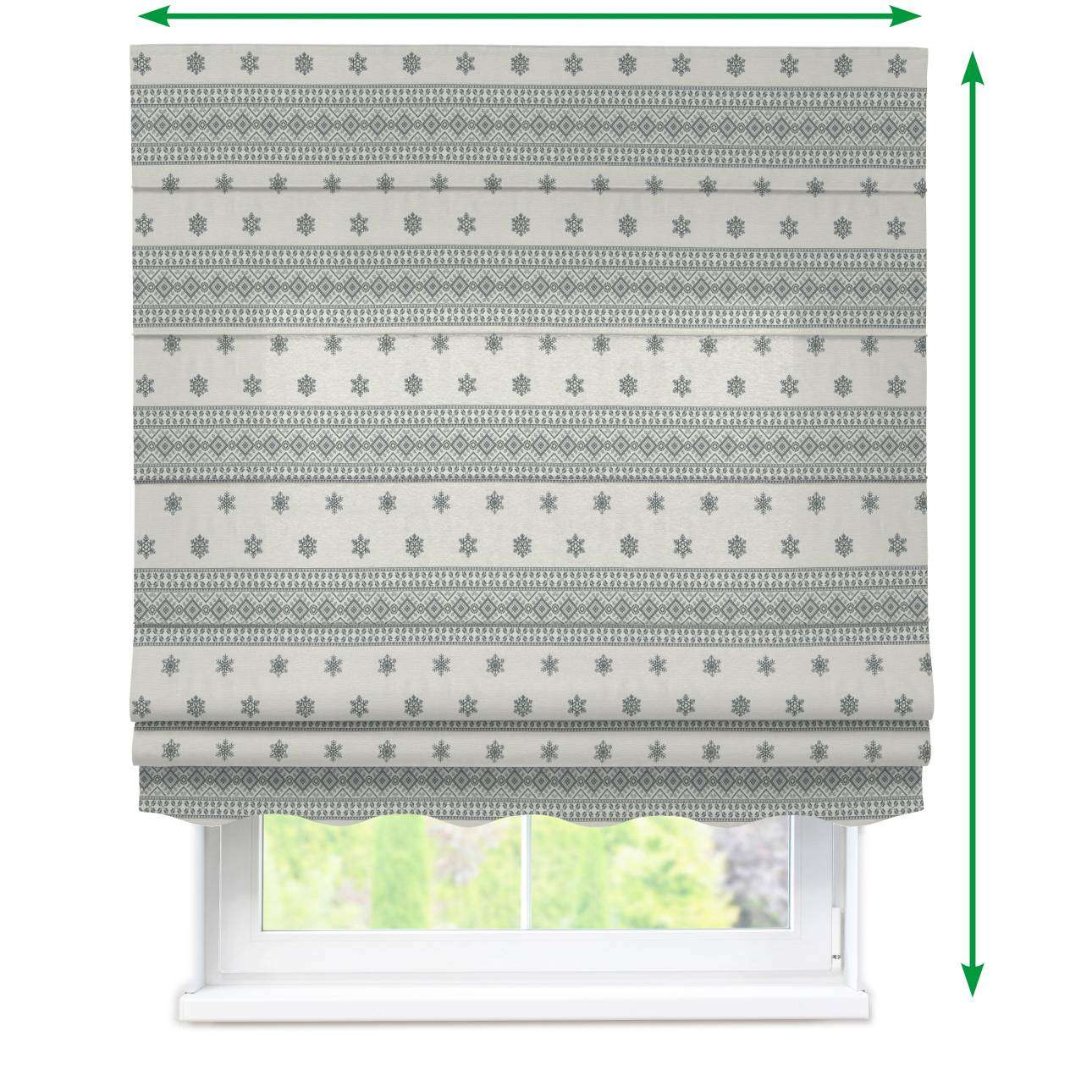 Florence roman blind  in collection Christmas, fabric: 630-25