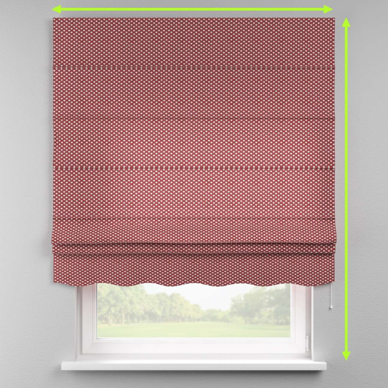 Florence roman blind  in collection Nordic, fabric: 630-40