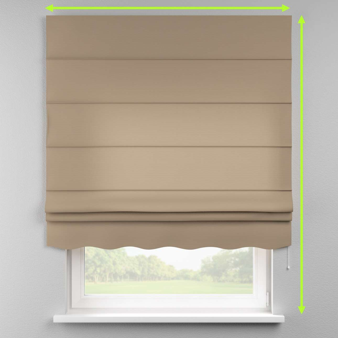 Florence roman blind  in collection Cotton Panama, fabric: 702-28