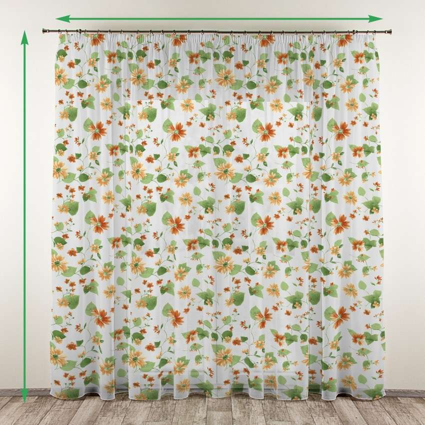Pencil pleat voile/net curtain in collection Net Curtains, fabric: 111-31
