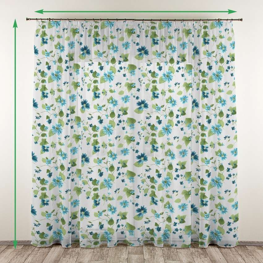 Voile curtain  - 2 pcs. in collection Net Curtains (Firany), fabric: 111-33