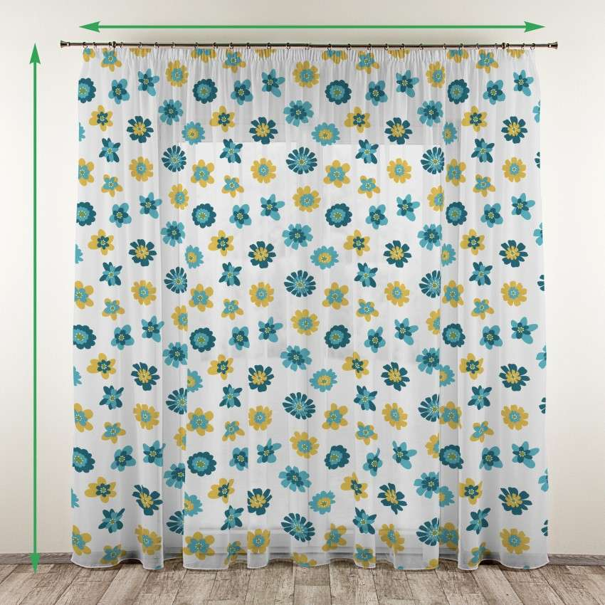 Pencil pleat voile/net curtain in collection Net Curtains, fabric: 111-34