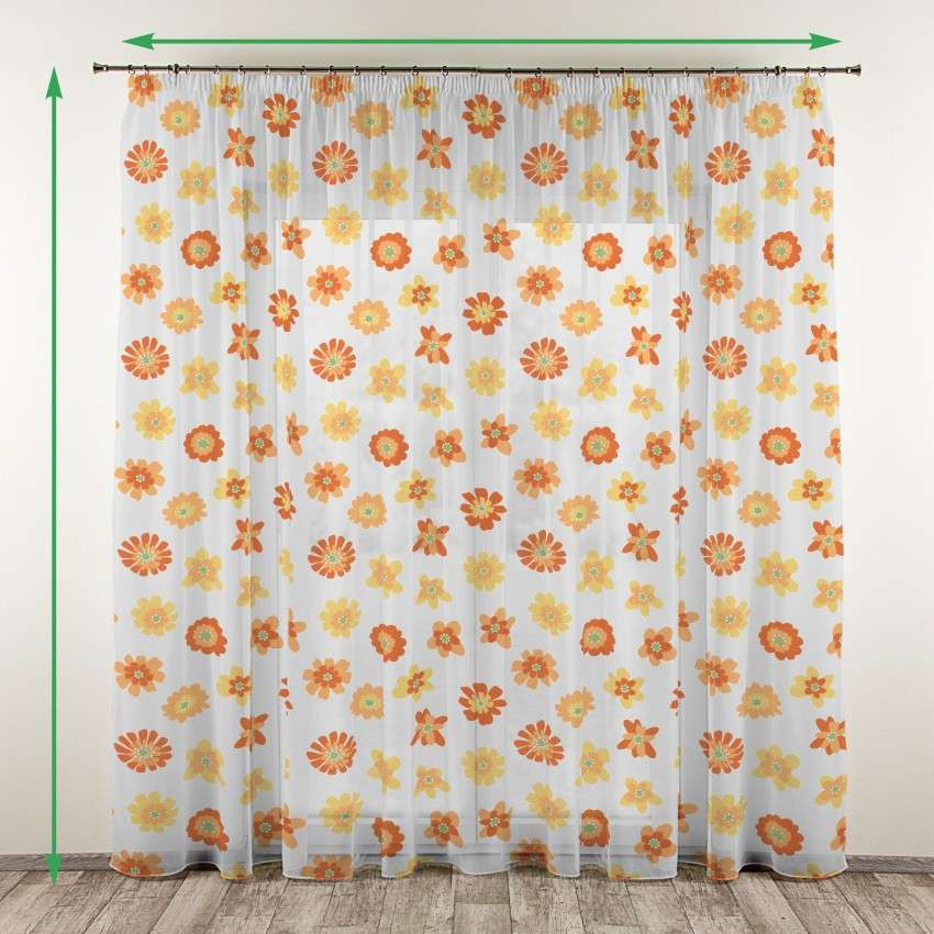 Pencil pleat voile/net curtain in collection Net Curtains (Firany), fabric: 111-37