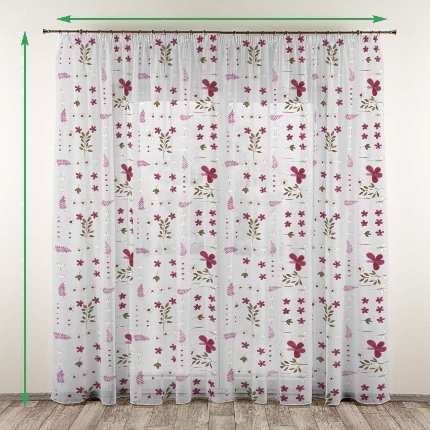 Pencil pleat voile/net curtain in collection Net Curtains (Firany), fabric: 111-42