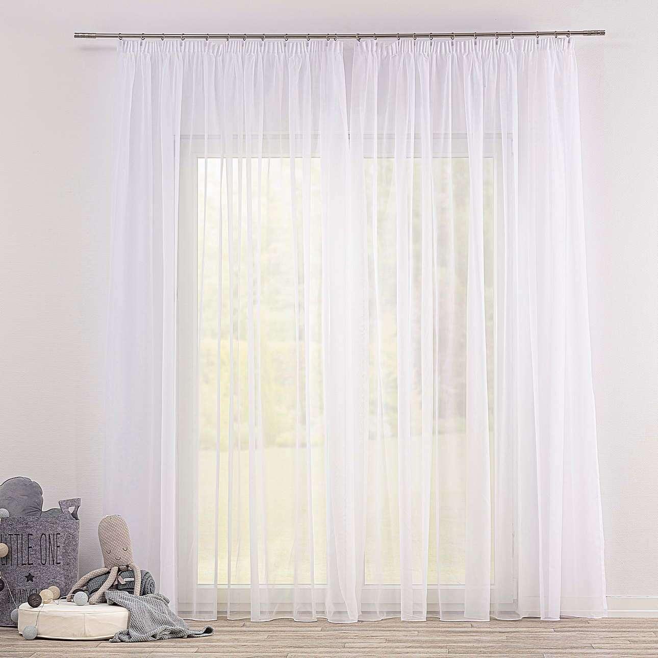 Gardine mit Kräuselband von der Kollektion Soft Veil, Stoff: 901-00