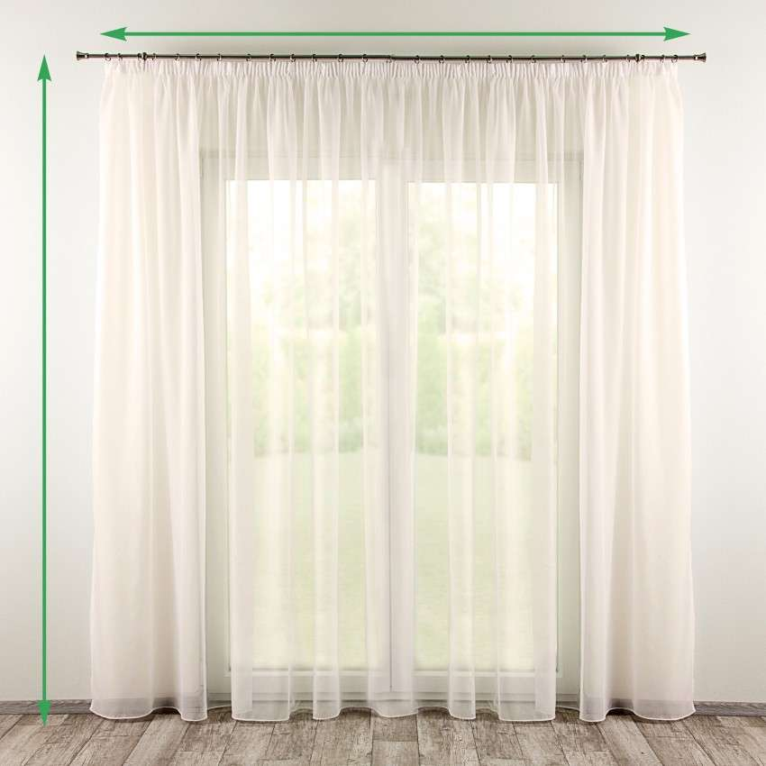 Voile curtain  - 2 pcs. in collection Voile, fabric: 901-01