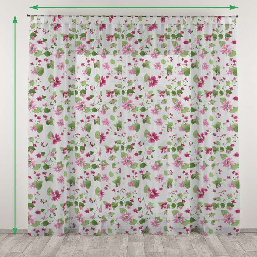 Tab top net curtains in collection Net Curtains (Firany), fabric: 111-32