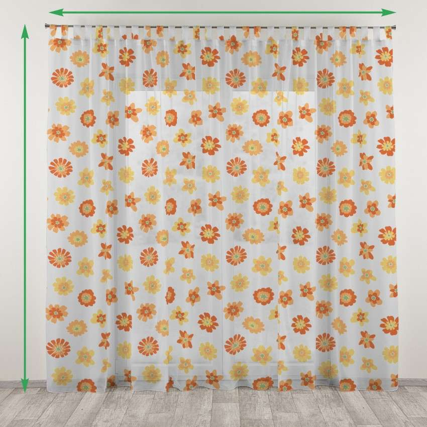 Tab top net curtains in collection Net Curtains (Firany), fabric: 111-37