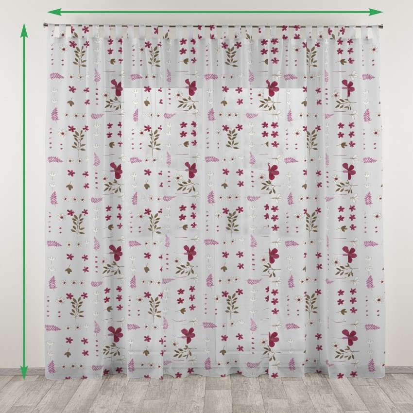 Tab top voile/net curtains in collection Net Curtains, fabric: 111-42