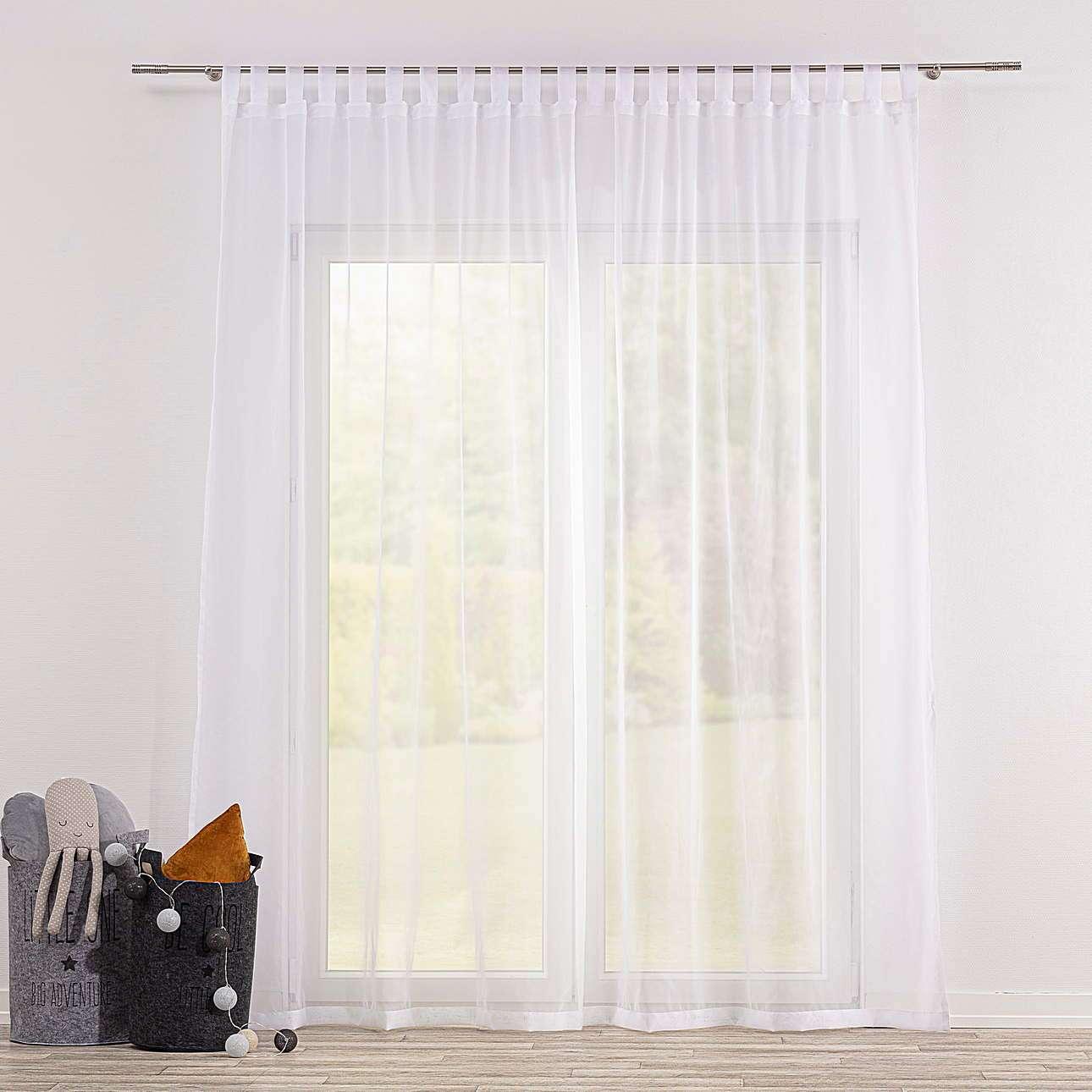 Dieninės užuolaidos su kilpelėmis kolekcijoje Soft Veil, audinys: 900-00
